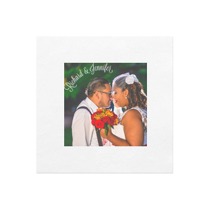 The ever-popular White Borderless Photo/Full Color Cocktail Napkin with Matte White Ink Digital Print Colors will make your guests swoon. Personalize your party's theme today.