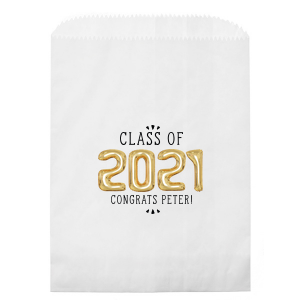 Personalized White Photo/Full Color Party Bag with Matte Black Ink Digital Print Colors will make your guests swoon. Personalize your party's theme today.
