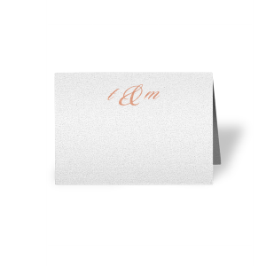 Our personalized Stardream Crystal White Cordial Place Card with Shiny Rose Gold Foil will impress guests like no other. Make this party unforgettable.