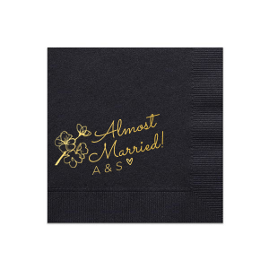 Our personalized Pastel Yellow Dinner Napkin with Shiny Merlot Foil has a Spring Blossom graphic and is good for use in Floral themed parties and couldn't be more perfect. It's time to show off your impeccable taste.