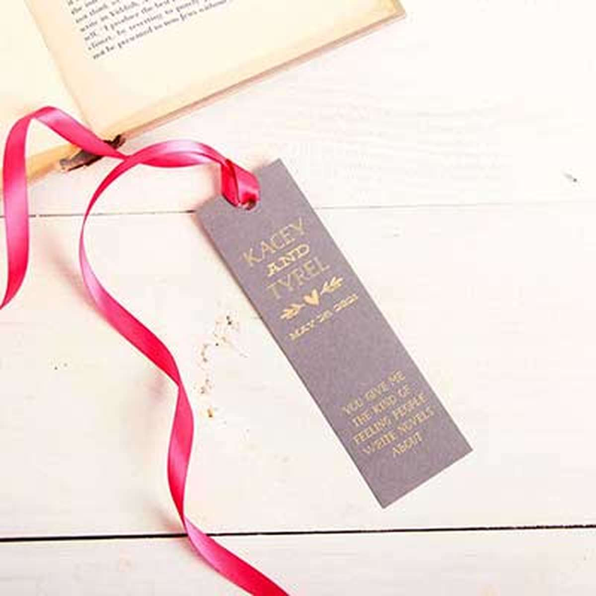 custom bookmark favor