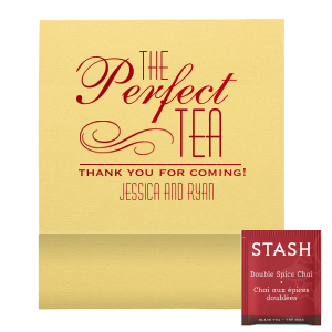 "Perfect Flourish Favor - Tea Favor - Personalized - Set of 50 - 2.75 x 2.375"""" by ForYourParty.com"