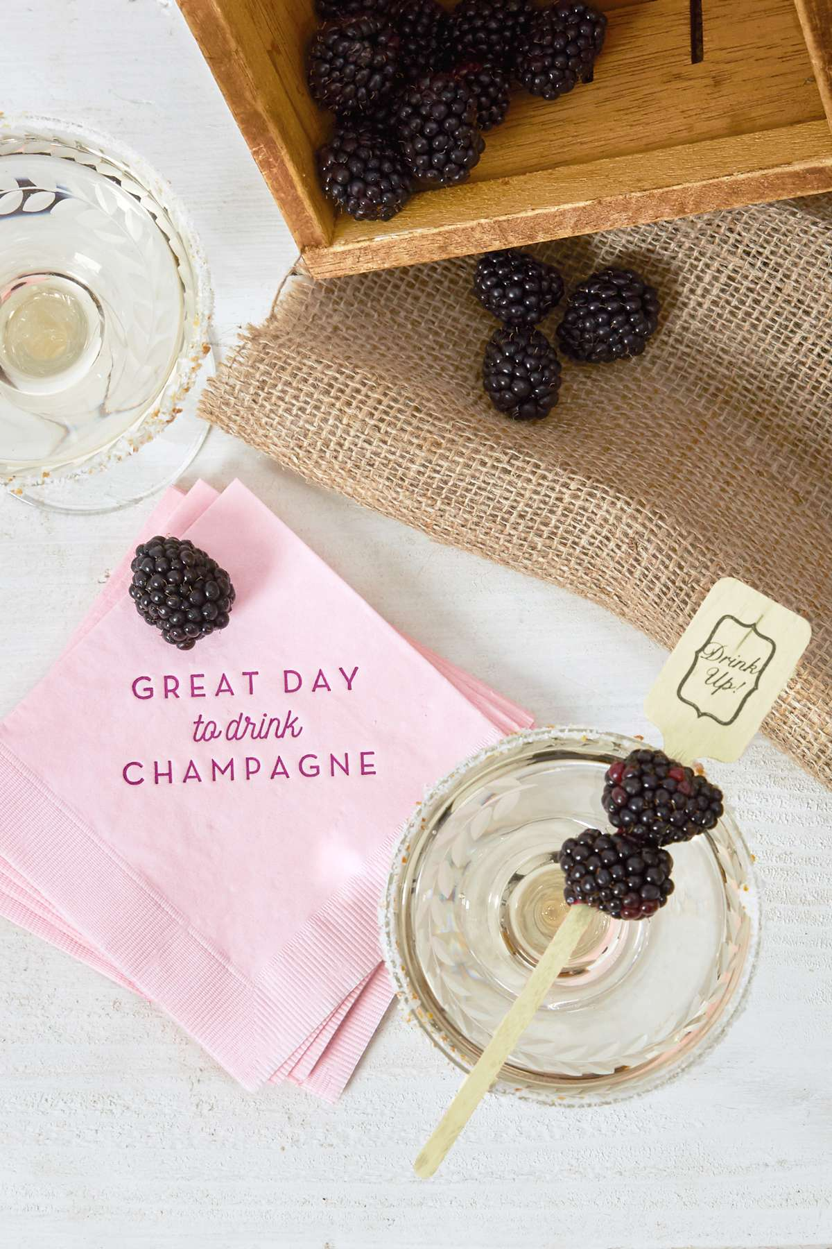 great day to drink champagne drink napkins