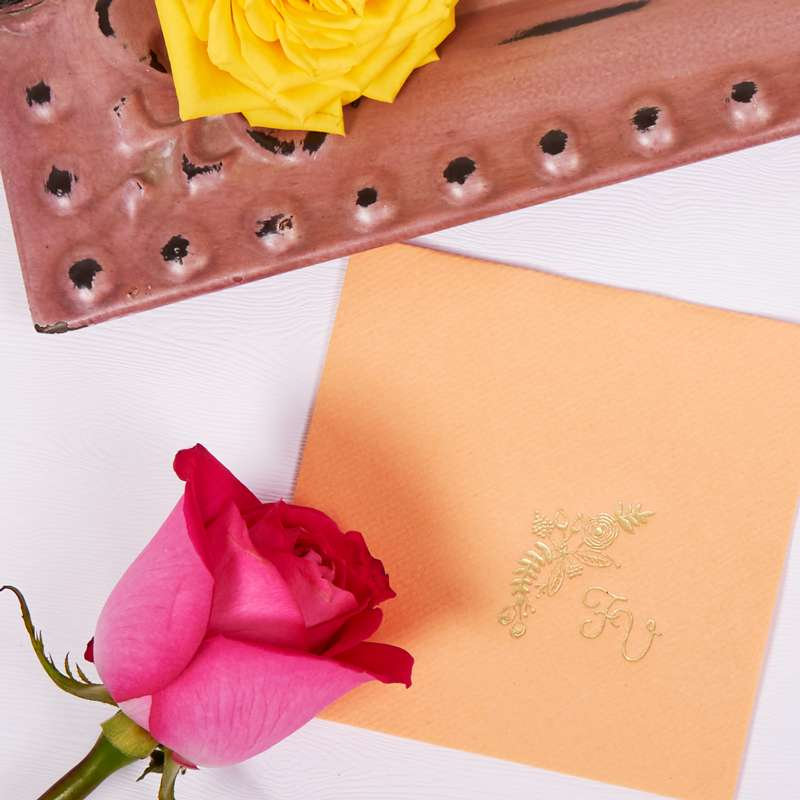 monogrammed wedding napkins