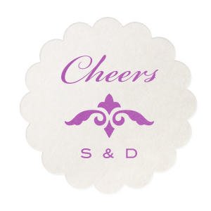Classic Cheers Initials Coaster