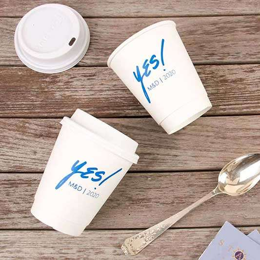 8 oz Paper Coffee Cup with Lid