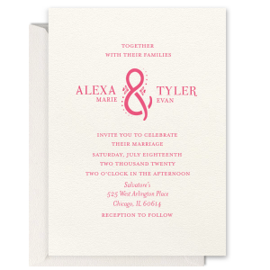 Floral Ampersand Foil Invitation