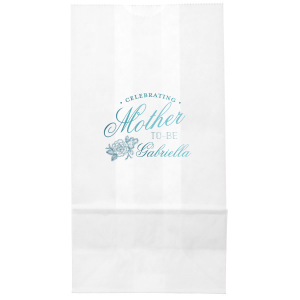 Our custom White Party Bag with Shiny Turquoise Foil has a Peony Accent graphic and is good for use in Floral, Accents themed parties and will give your party the personalized touch every host desires.