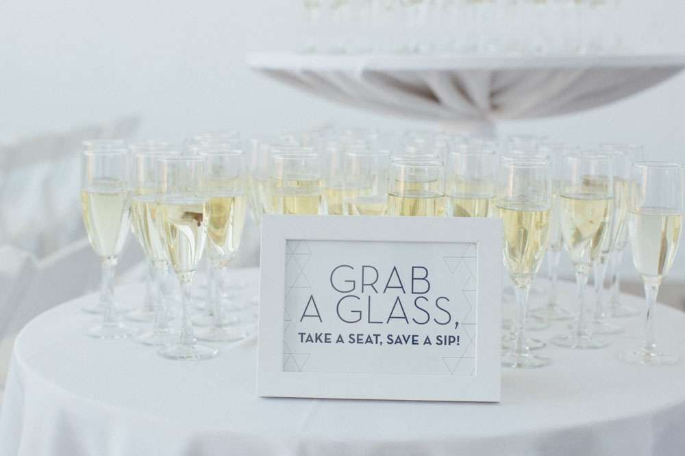 wedding toast champagne glasses