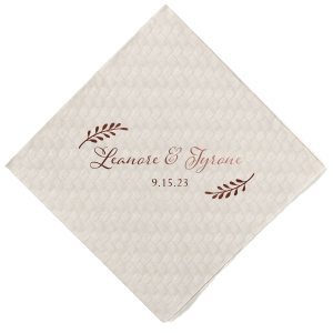 Our custom Champagne Shimmer Cocktail Napkin with Shiny Merlot Foil will give your party the personalized touch every host desires.