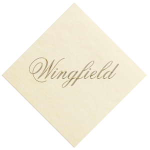 Our personalized Ivory Borderless Foil Embossed Cocktail Napkin with Satin 18 Kt. Gold Foil can't be beat. Showcase your style in every detail of your party's theme!