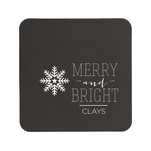 ForYourParty's chic Kraft with Blush back Deco Coaster with Shiny Convertible Red Foil has a Snowflake 3 graphic and is good for use in Christmas themed parties and can't be beat. Showcase your style in every detail of your party's theme!