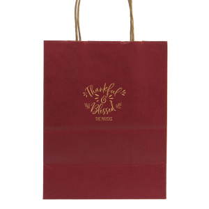 ForYourParty's elegant Metallic Copper Gift Bag with Satin 18 Kt. Gold Foil will make your guests swoon. Personalize your party's theme today.