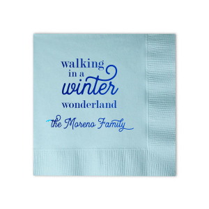 Our beautiful custom Sky Blue Cocktail Napkin with Shiny Royal Blue Foil will add that special attention to detail that cannot be overlooked. A perfect touch to your winter holidays.