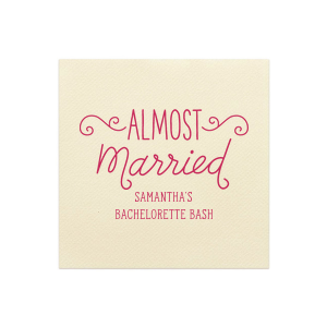 Almost Married Swirl Napkin