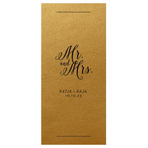 Mr and Mrs Calligraphy Favor