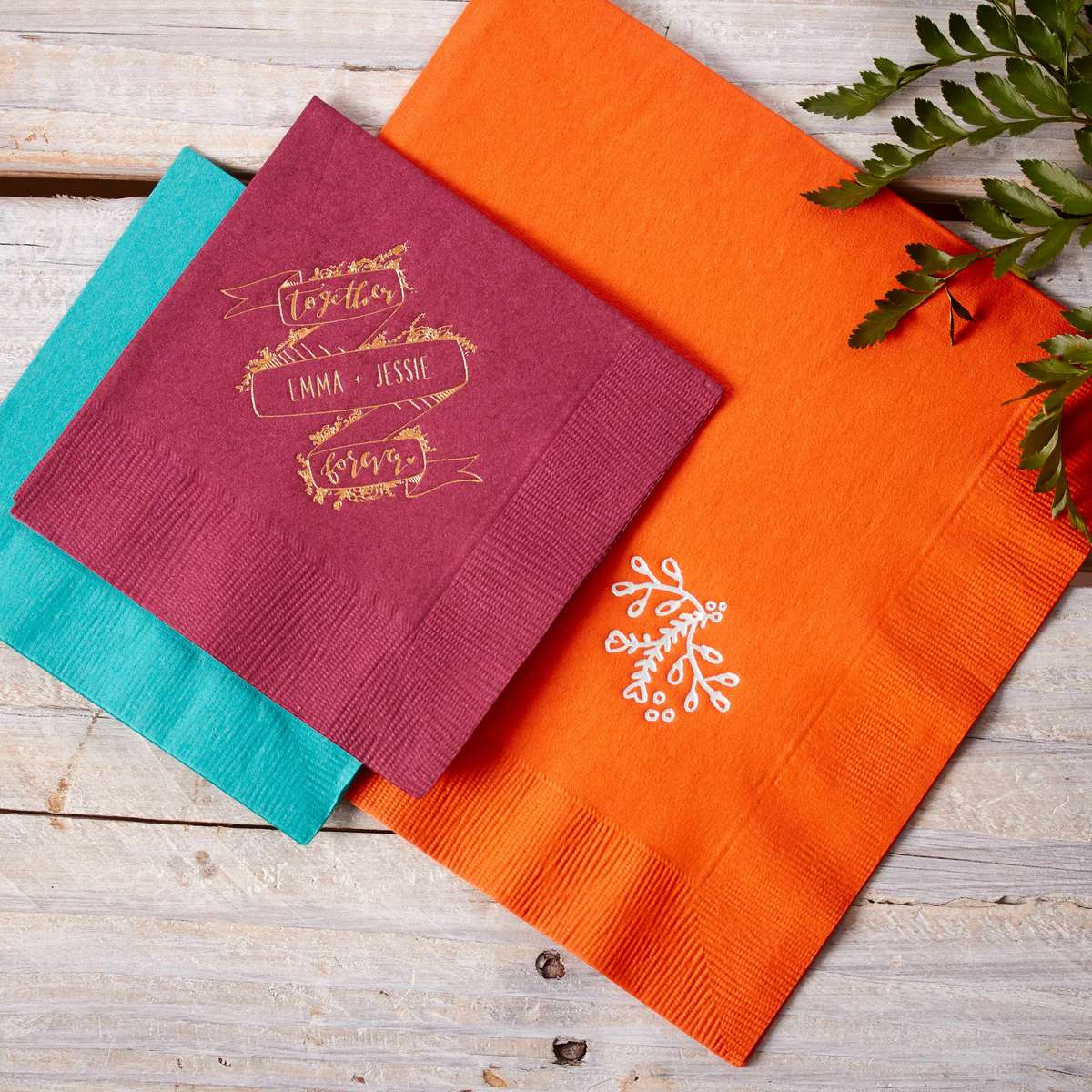 personalized wedding napkins for fall