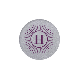 Our beautiful custom Classic Crest Ivory Round Label with Matte Eggplant Ink Digital Print Colors has a sunburst frame graphic and is good for use in personal correspondence, birthdays and special occasions.