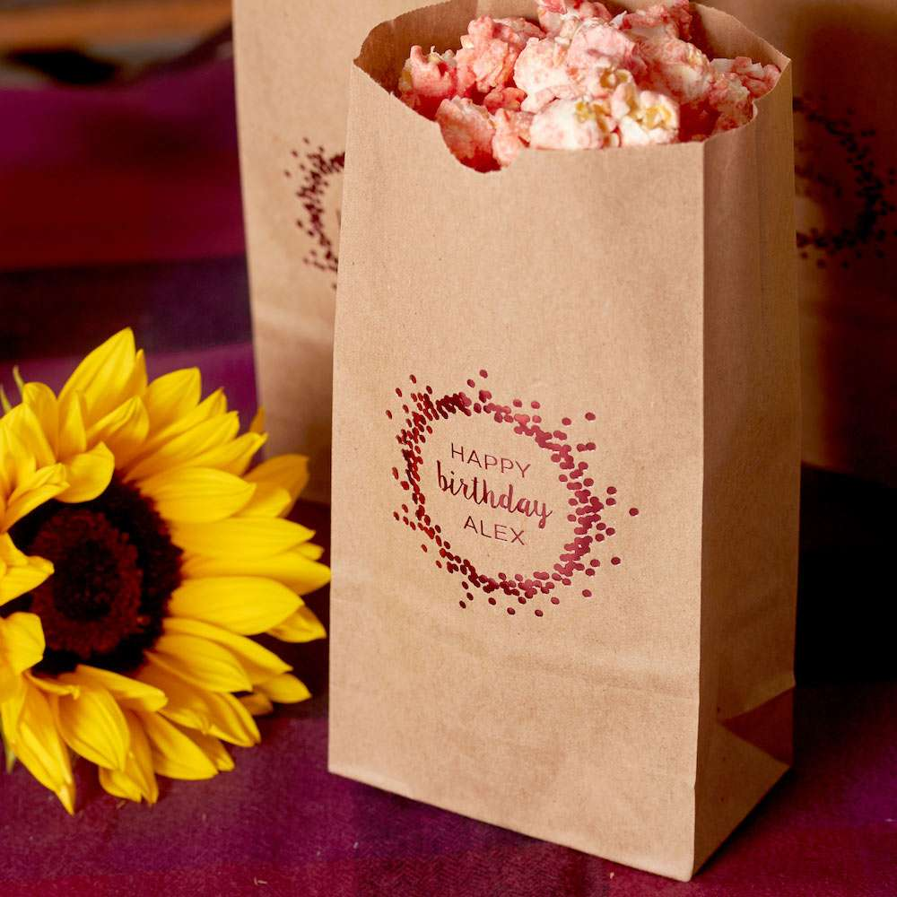 personalized party bags for food bars