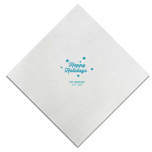 The ever-popular Tiffany Blue Cocktail Napkin with Satin Teal / Peacock Foil Color couldn't be more perfect. It's time to show off your impeccable taste.