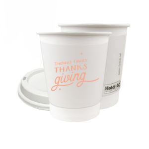 Custom Matte Light Coral Ink 8 oz Paper Coffee Cup with Lid with Matte Light Coral Ink Cup Ink Colors has a Tree RSVP graphic and is good for use in Lovely Press themed parties and will impress guests like no other. Make this party unforgettable.