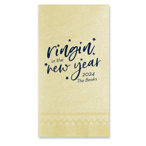 ForYourParty's chic Pearl Gold Cocktail Napkin with Matte Navy Foil will look fabulous with your unique touch. Your guests will agree!