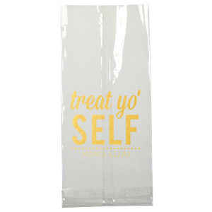 Our beautiful custom White Party Bag with Shiny 18 Kt Gold Foil will impress guests like no other. Make this party unforgettable and treat yo'self.