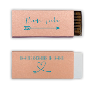 The ever-popular Poptone Peach Cigar Matchbox with Satin Teal / Peacock Foil Color has a Arrow 2 graphic and a Arrow Heart graphic and is good for use in Hearts themed parties and couldn't be more perfect. It's time to show off your impeccable taste.