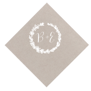 The ever-popular Seaglass Cocktail Napkin with Matte White Foil Color has a Leaf Frame and is good for use in Garden themed parties and will give your party the personalized touch every host desires.