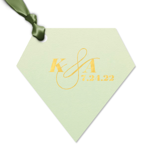 Our personalized Poptone Mint Large Round Gift Tag with Shiny 18 Kt Gold Foil will add that special attention to detail that cannot be overlooked.