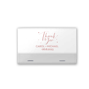 Personalized Vanilla 30 Strike Matchbook with Shiny Rose Quartz Foil can be customized to complement every last detail of your party.