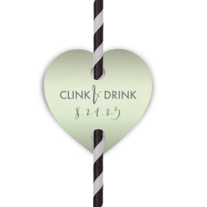 Clink and Drink Straw Tag