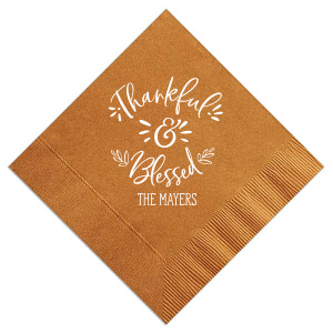 Thankful & Blessed Napkin