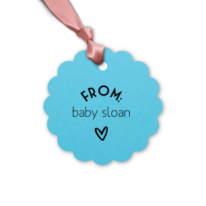 Pastel Heart Baby Tag