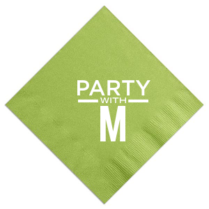 The ever-popular Kiwi Cocktail Napkin with Matte White Imprint Foil Color are a must-have for your next event—whatever the celebration!