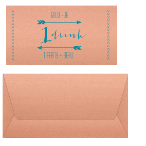 Drink Ticket Place Card