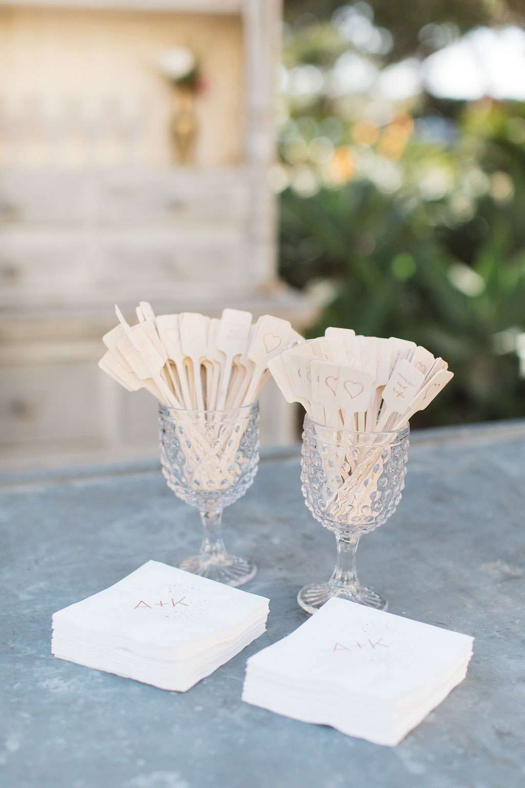 personalized wedding bar accessories