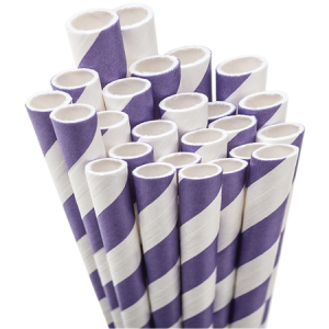 Our personalized Purple Stripe Striped Straw are a must-have for your next event—whatever the celebration!