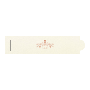ForYourParty's elegant Strathmore Ivory Napkin Ring with Shiny Rose Gold Foil has a Rose Laurel graphic and is good for use in Wedding, Floral themed parties and are a must-have for your next event—whatever the celebration!