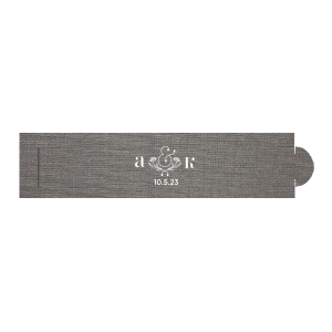 The ever-popular Linen Slate Napkin Ring with Matte White Foil has a Accent Ampersand 2 graphic and is good for use in Floral, Couple, Wedding themed parties and will impress guests like no other. Make this party unforgettable.