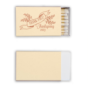 Our beautiful custom Natural Vanilla 30 Strike Matchbook with Satin Copper Penny Foil has a Twig Banner graphic and is good for use in Wedding, Floral themed parties and couldn't be more perfect. It's time to show off your impeccable taste.