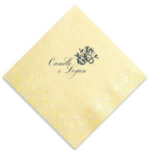 Elegant Rose Names Napkin