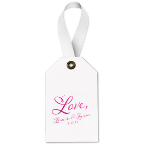 Script Love Gift Tag - Wine Gift Tag - Personalized - Set of 35 - 2.625 x 4.125