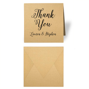 Romantic Thank You Gift Enclosure