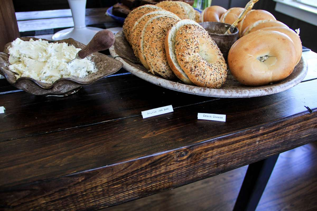 bridal shower brunch bagel menu