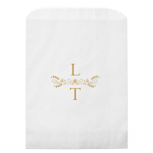 Our custom White Party Bag with Satin 18 Kt. Gold Foil has a Sunflower Bouquet graphic and is good for use in Wedding, Anniversary and Home themed parties and couldn't be more perfect. It's time to show off your impeccable taste.