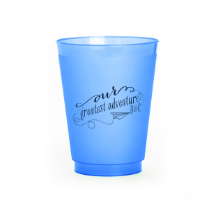 Our custom Matte Navy Ink 9 oz Frost Flex Cup with Matte Navy Ink Cup Ink Colors has a Paper Airplane graphic and is good for use in Kid Birthday, Birthday themed parties and will look fabulous with your unique touch. Your guests will agree!
