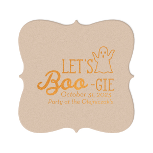 Our custom Black with Silver back Nouveau Coaster with Shiny Copper Foil has a Ghost graphic and is good for use in Halloween themed parties and will impress guests like no other. Make this party unforgettable.