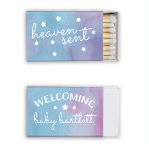 Custom Watercolor Ocean Classic Matchbox with Matte White Foil can be personalized to match your party's exact theme and tempo.
