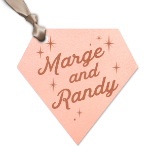 Personalized Stardream Ballet Pink Diamond Gift Tag with Satin Copper Penny Foil will give your party the personalized touch every host desires.